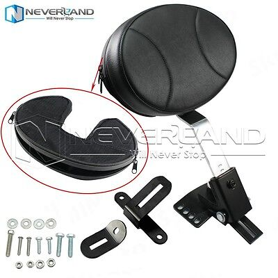 Plug In Driver Rider Backrest Kit for Harley Touring Electra Road Street Glide