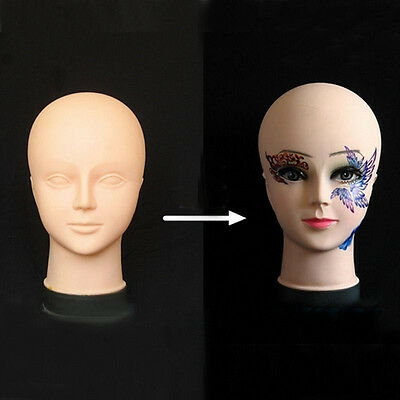 Cosmetology Flat Head Mannequin Makeup Massage Practice Training Soft Rubbe