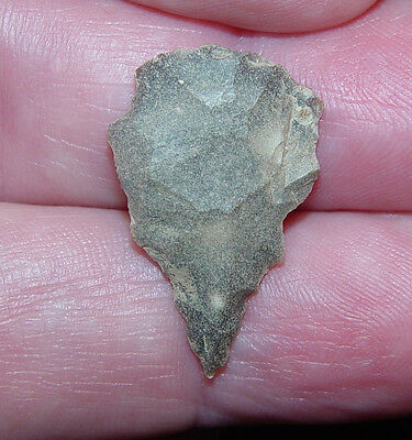 "Indian Arrowhead  Archaic Dart or Arrowhead 1""  Point  Guaranteed AACA TN"