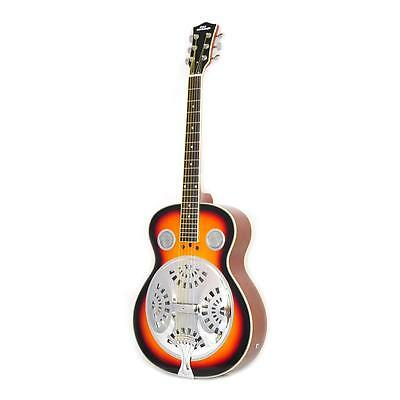 NEW Pyle PGA48BR 6-String Acoustic Resonator Guitar Full Scale Resophonic Acc