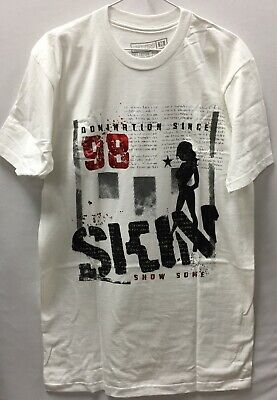 "Skin Industries Men's T-Shirt ""OG"" -- Color White , Size M - 3XL"