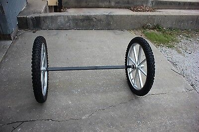 Super heavy duty cart or buggy 2 wheels with motorcycle tire and and exle
