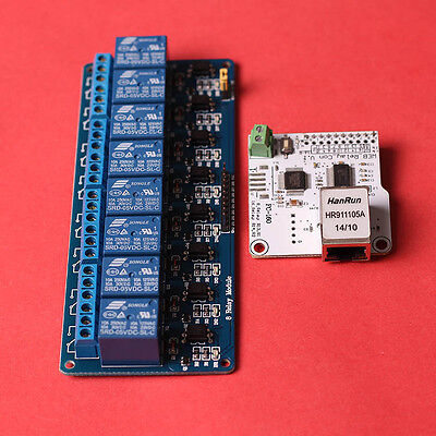 ENC28J60 5V 8-Channel Industrial Remote Relay Module Network