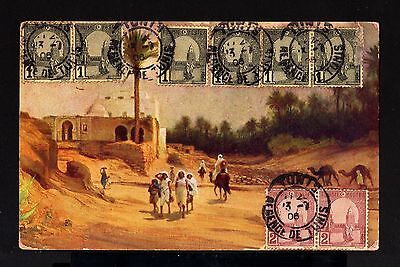 850-TUNIS-OLD POSTCARD REGENCE TUNIS to VAR (france)1906.FRENCH COLONIES.Tunez