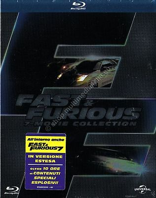 Fast & Furious Movie Collection - Cofanetto 7 Blu Ray Disc Nuovo!