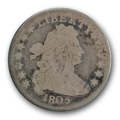 1805 10C 4 Berries Draped Bust Dime Good G US Type Coin R165
