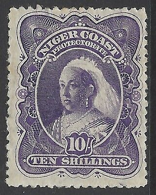 NIGER COAST, 1897 10/- bright violet (p15), fresh m/mint, SG#74a