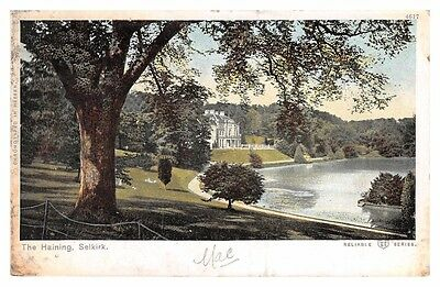 Selkirk - The Haining - large house - 1903 used postcard