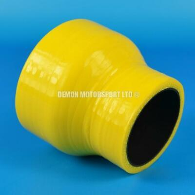 Silicone Hose Straight Reducer Yellow SELECT SIZE Demon Motorsport (Black Core)