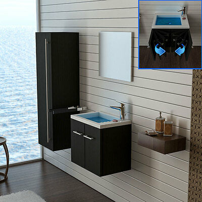 badm bel tiefe ca 22 cm waschbecken g ste wc waschtisch mit unterschrank eur 159 90. Black Bedroom Furniture Sets. Home Design Ideas