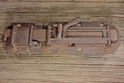 "1860's House Shutter Latch old rustic cast iron slide bolt 8 3/4"" clean vintage • CAD $51.50"