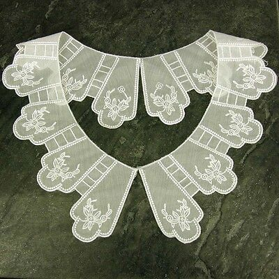 Period Ivory Edwardian Style Lace Collar Sewn On Dressmaking, LC63 Drama Club