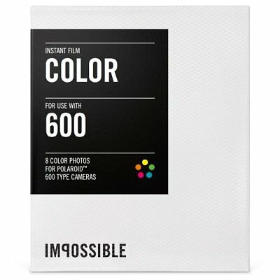 Impossible Silver Frame Color Film for Polaroid 600-Type Camera Frame (Silver)