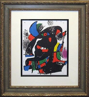 "Joan Miro Vol IV II"" 1981 Original Art Lithograph Framed Artwork SUBMIT AN OFFER"