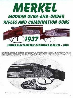 Merkel 1937 Suhn Article and Catalog with Prices
