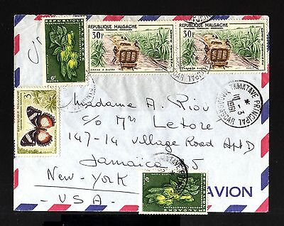 7269-MADAGASCAR-AIRMAIL COVER TAMATAVE to NEW YORK (usa)1961.French Colonies.