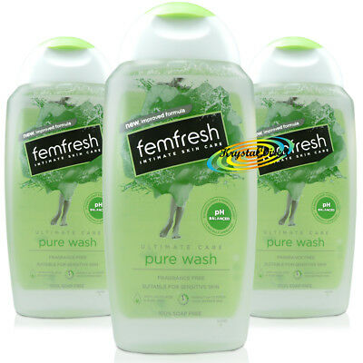 3x Femfresh Intimate Hygiene Ultimate Care Pure Wash 250ml