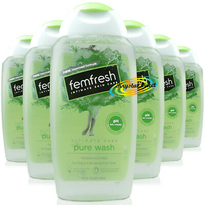 6x Femfresh Intimate Hygiene Ultimate Care Pure & Fresh Wash 250ml