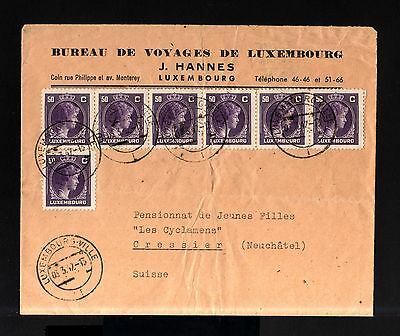 7224-LUXEMBURGO-OLD COVER LUXEMBOURG to CRESSIER (switzerland).1942.WWII.