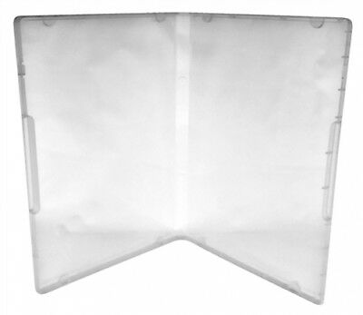 100 Clear Storage Cases 14mm for Rubber Stamps /w Tabs (No Hub)