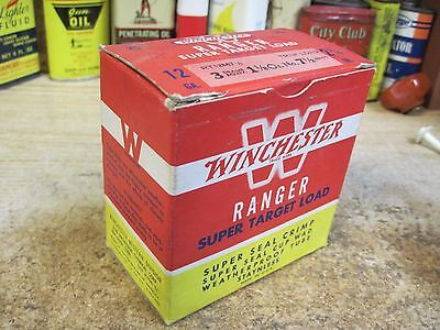 EMPTY WINCHESTER RANGER PAPER 12 GA shot shell box ammo SUPPER TRAP LOAD