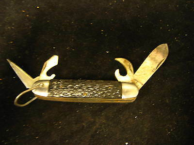 "Vintage Sabre Japan Multi-Tool Folding Pocket Knife 2-1/2"" Main Blade"