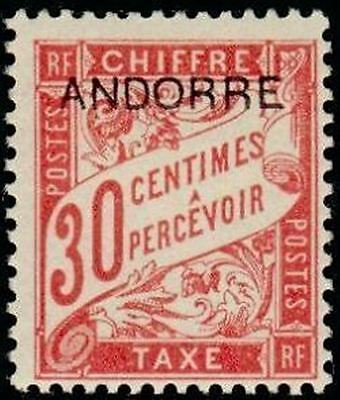 """ANDORRA FRENCH STAMP stamp TAX N° 3 """" stamp FROM 1893 30c """" NEW xx TTB"""