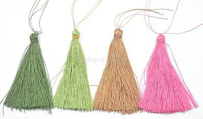 6pcs Nylon Tassel Charm Pendants for Bags Key Chains Bookmark DIY Decor 90mm