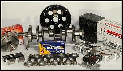 383 STROKER ASSEMBLY SCAT CRANK 5.7 RODS WISECO +4cc DOME 030 PISTONS 2PC RMS