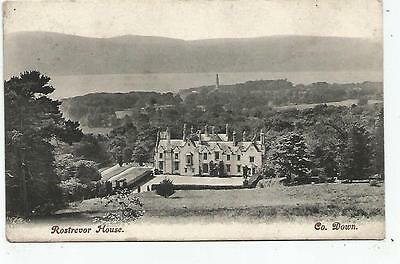 northern ireland postcard ulster irish co. down rostrevor house