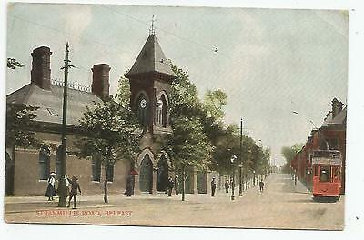 northern ireland postcard ulster irish antrim stranmillis road belfast