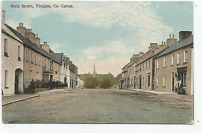 irish postcard ireland cavan main street virginia d. mcGovern shop on the right