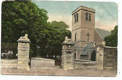 irish postcard ireland kildare celbridge church