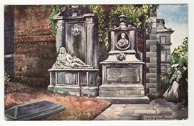famous people postcard goldsmiths tomb temple church