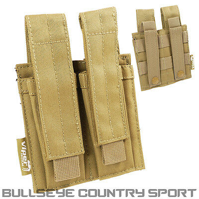 Viper Modular Double Pistol Magazine Pouch Coyote Airsoft Army Style