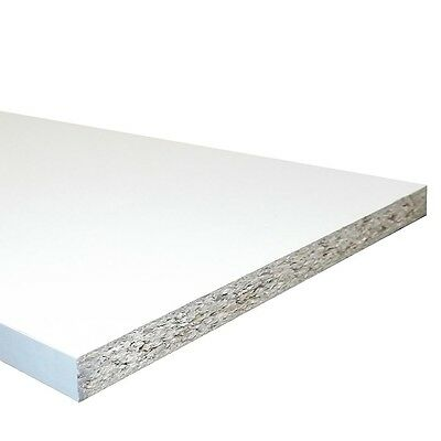 """White Melamine Faced Chipboard Conti Board 455mm (18"""") - 4ft Shelves Cupboards"""