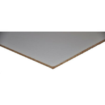 "White Faced Hardboard 3mm 605mm x 1520mm (24""x60"") DIY project etc"
