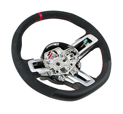 2015-2017 Mustang Shelby GT350R Steering Wheel Leather & Suede w/ Red Stitching