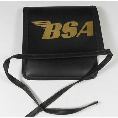 BSA Tool Pouch Black Synthetic Leather Finish With BSA Gold Lettering