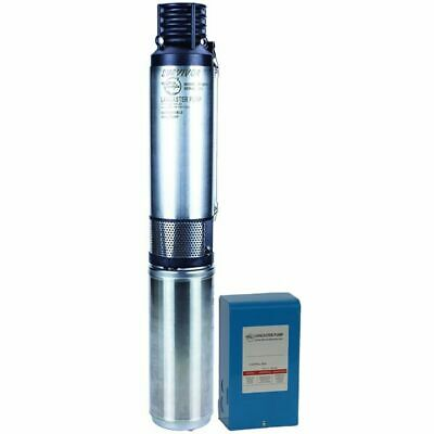 Lancaster Pump 3LPW10007-2 - 1 HP 22 GPM Deep Well Submersible Pump (3-Wire 2...