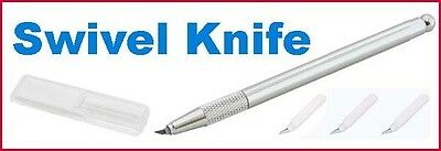 Swivel Knife same as Coluzzle plus Spare Cutting Blades x 5 FREE SHIPPING