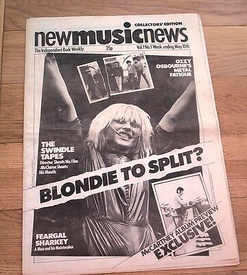 BLONDIE 'to split'  Debbie Harry cover and 1 page  RARE UK  magazine 1980