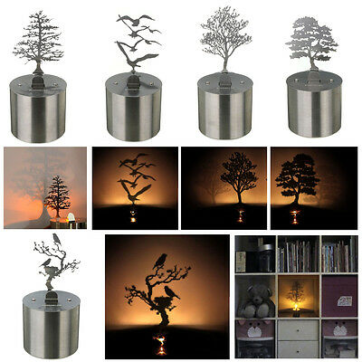 Shadow Projection Lamp Romantic Night Light LED Candle Home Desktop Decor Gift