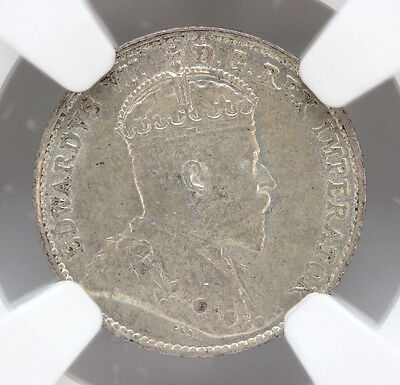 1908 Canada 5 Cents Silver KM13 Edward VII Small 8 NGC AU58 90198h