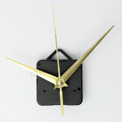 Gold Hands Quartz Wall Clock Movement Mechanism Repair Parts DIY Tool Kit Silent