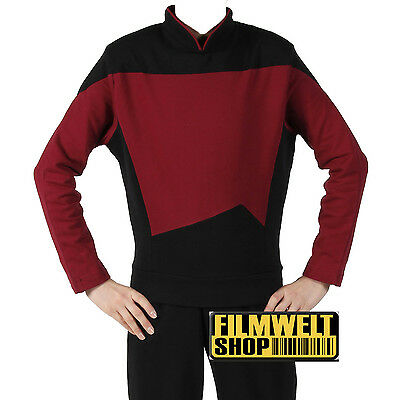 STAR TREK Uniform - TNG -  Baumwolle Captain rot  M Super Deluxe ovp