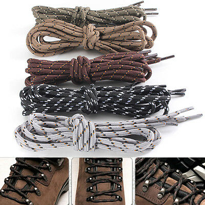 """150cm/59"""" Round Hiking Walking Boot Sneakers Army Shoe Laces Shoelace Bootlaces"""