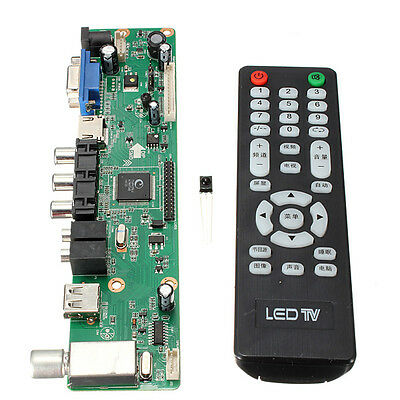 Universal LCD Controller Board TV Motherboard VGA HDMI AV TV USB Interface