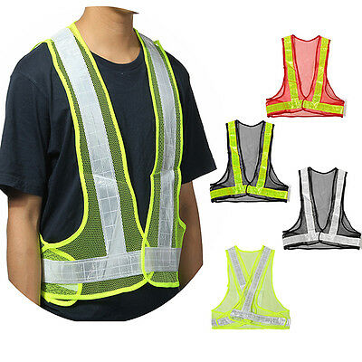New Reflective Vest High Visibility Warning Traffic Construction Safety Gear