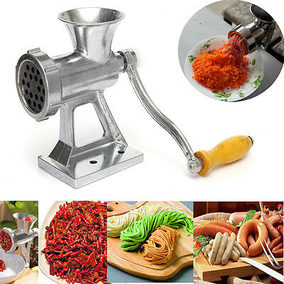 Heavy Duty Hand Operated Meat Grinder Beef Noodle Pasta sausages Maker Alloy New